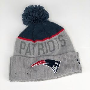 New England Patriots Pom Pom Beanie